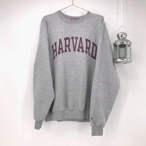 Champion Grey Harvard Crew Neck Sweatshirt